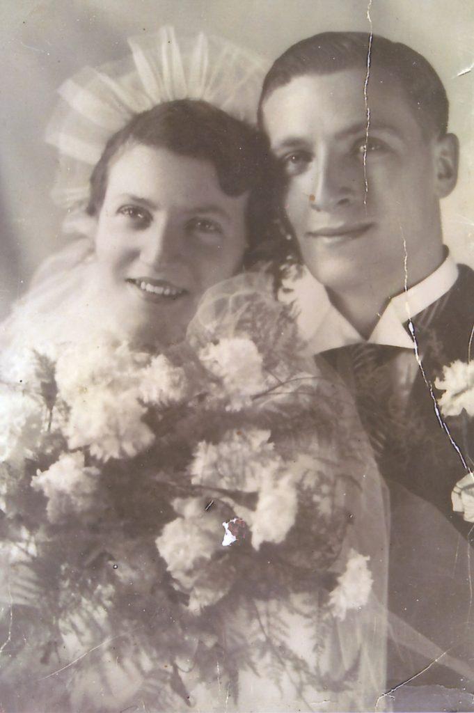 Trouwfoto van Siegs ouders.