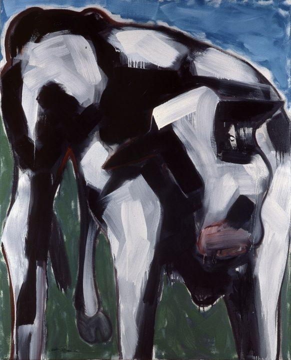 Nederlandse Koe. 1983. Olieverf op doek. 95 x 120 cm.