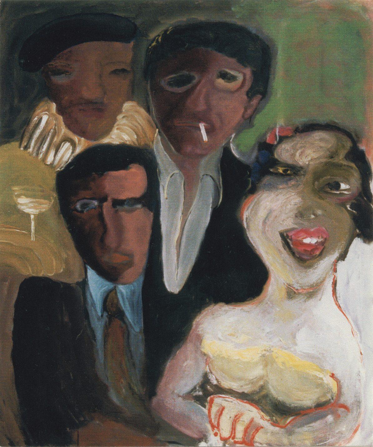 De Kring. 1999. Olieverf op doek. 110 x 130 cm.