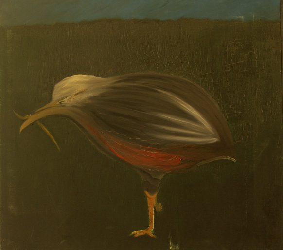 Rare Vogel. 1983. Olieverf op doek. 92 x 102 cm.