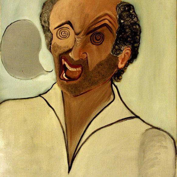 Zelfportret. 1983. Olieverf op doek. 70 x 85 cm.