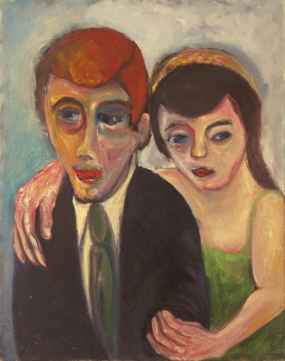 Joseph en Maria Berensen (Sita Ram serie). 1989. Olieverf op doek. 75 x 95 cm.