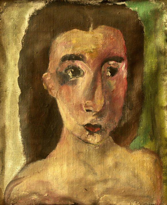 Portret van een Vrouw. 1993. Olieverf op doek. 37 x 44 cm.