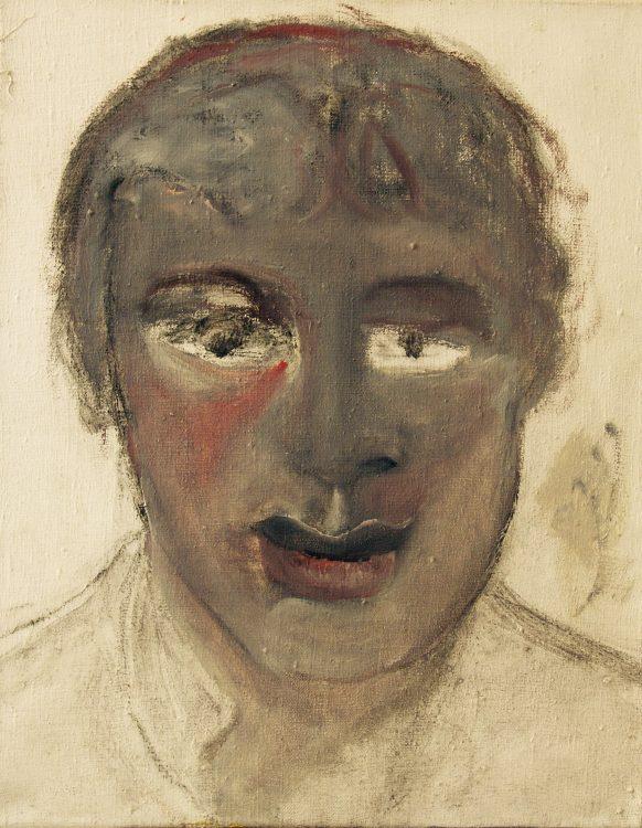 Portret van een Jongen. Olieverf op doek. 40 x 50 cm.