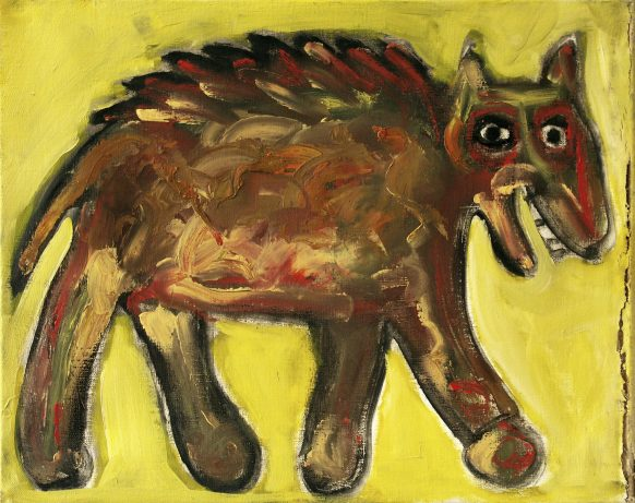 Vreemd Beest. 1994. Olieverf op doek. 50 x 40 cm.