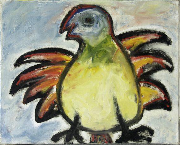 Rare Vogel. 1994. Olieverf op doek. 50 x 40 cm.
