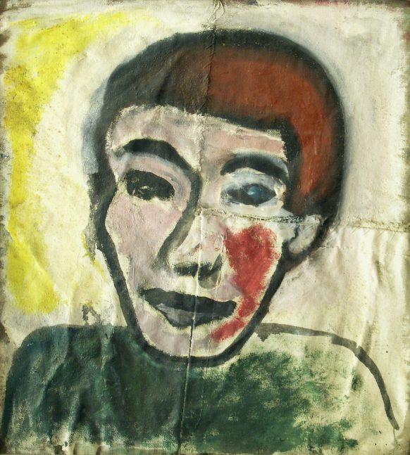 Gele Schaduw. 1989. Olieverf op doek. 45 x 49 cm.