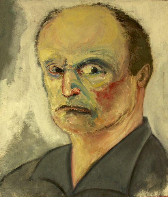 Zelfportret. Olieverf op doek. 65 x 75 cm.