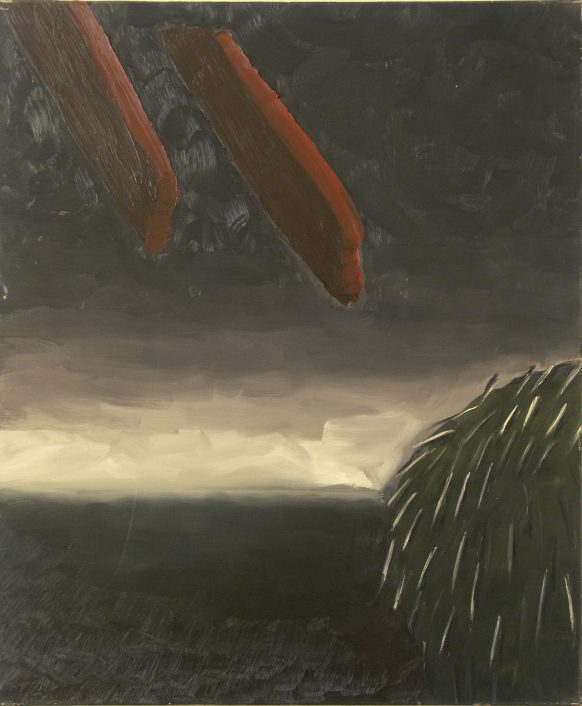 Agressie. 1983. Olieverf op doek. 100 x 120 cm.