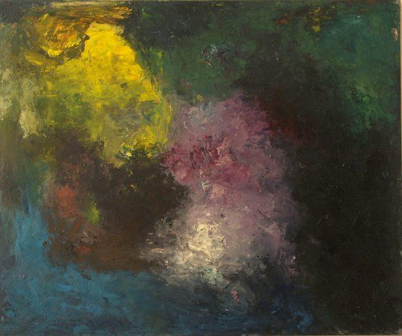 Nu #8 (Beweging serie). 1989. Olieverf op doek. 100 x 120 cm.