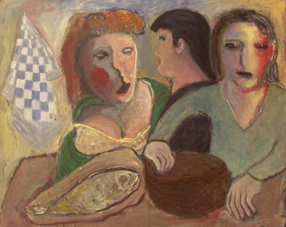Geel. 2 september 1988. Olieverf op doek. 125 x 100 cm.
