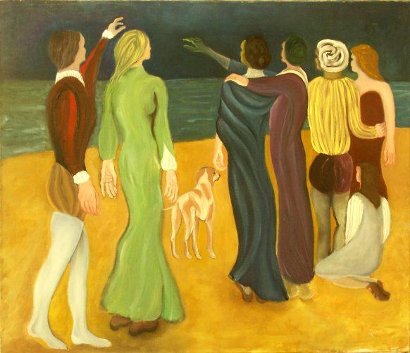 De Bezwering. 1996. Olieverf op doek. 95 x 110 cm.