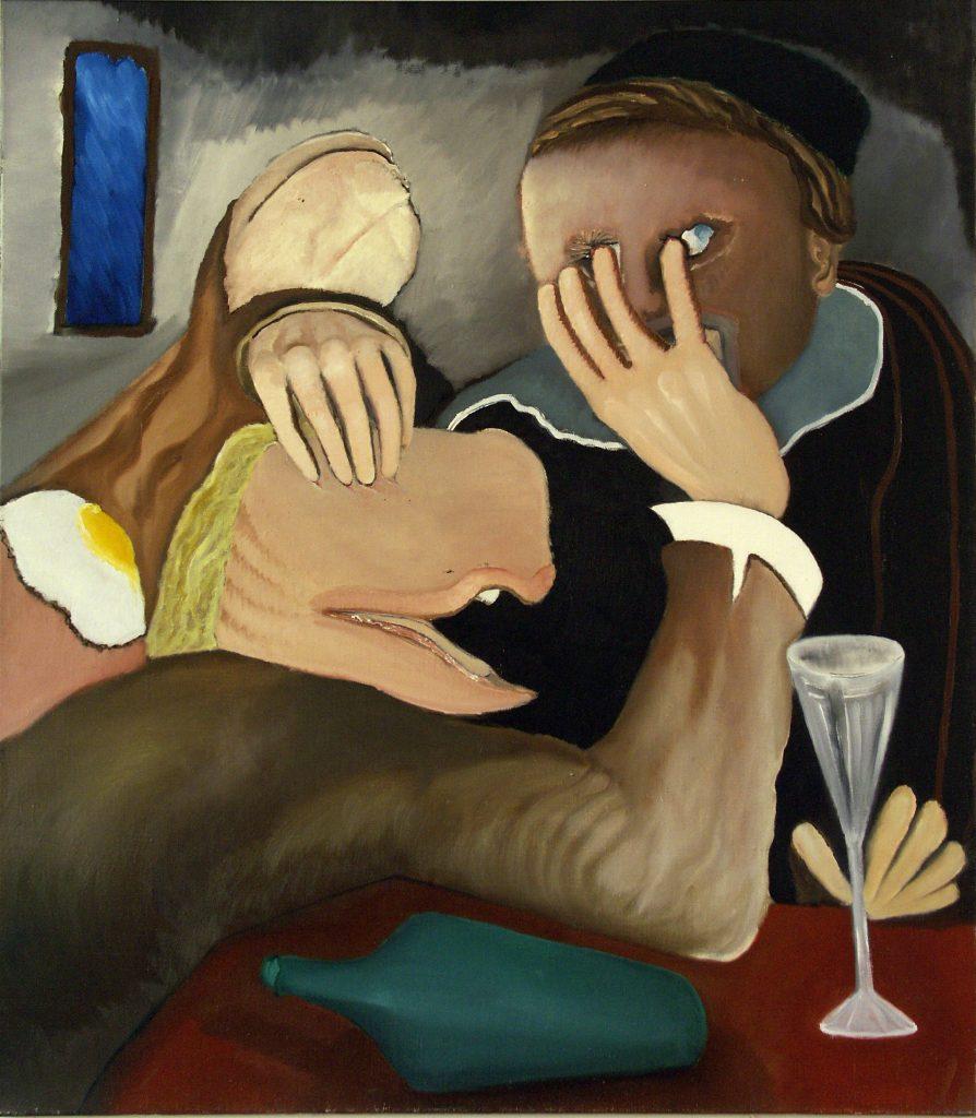Handen Uitstekende Proleet. 1982. Olieverf op doek. 95 x 110 cm.