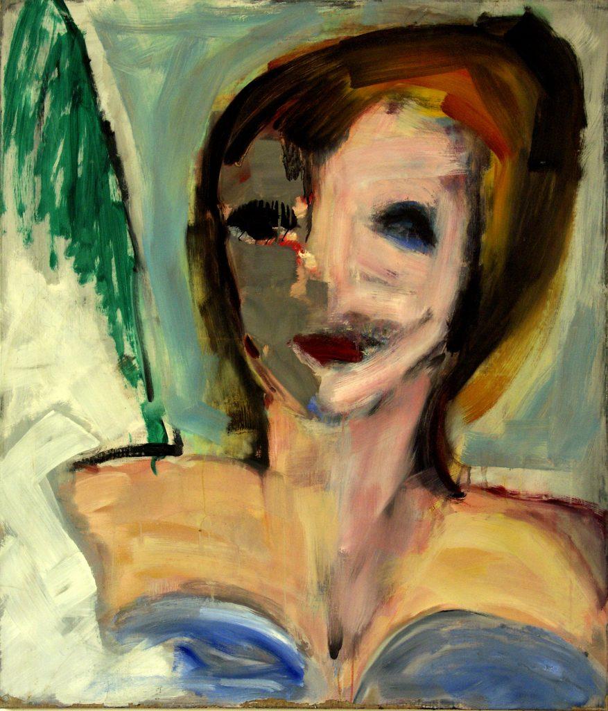 Karen, de vrouw van de schilder. 1981. Olieverf op doek. 95 x 110 cm.