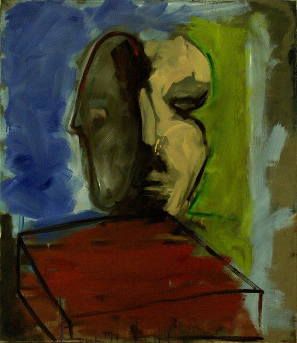Het dilemma van de Gespleten Persoonlijkeheid. 1984. Olieverf op doek. 95 x 110 cm.