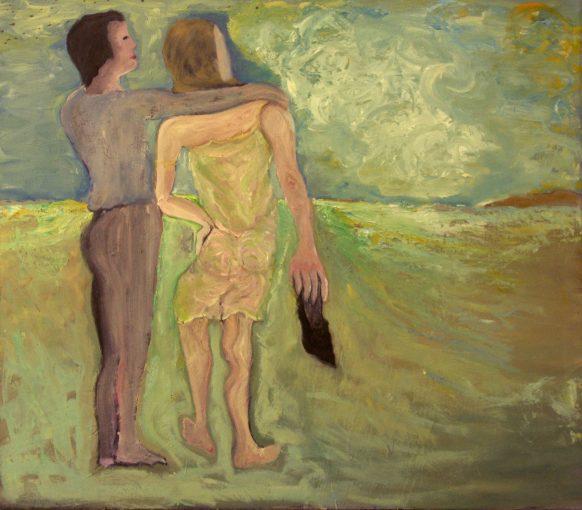 De Mens z'n Slachten. 1984. Olieverf op doek. 115 x 100 cm.