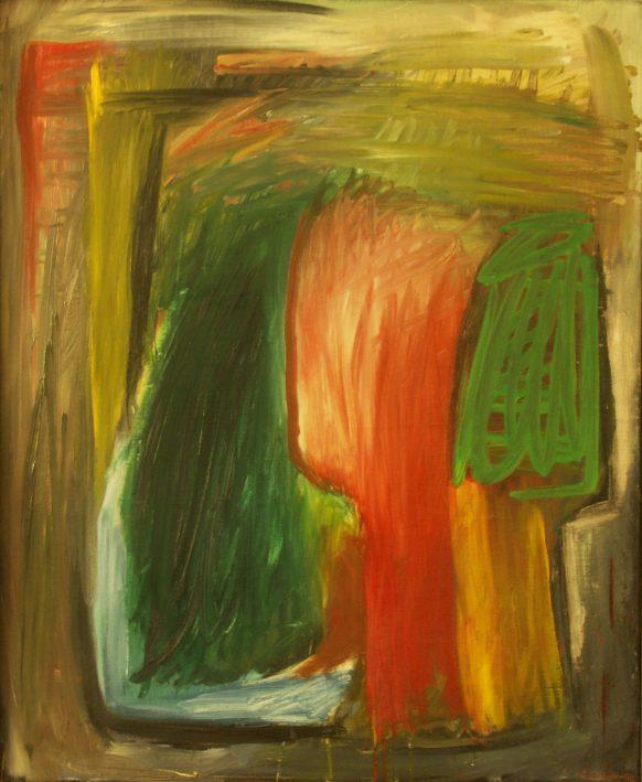 Oranje Hoofd (Zijn serie). 1987. Olieverf op doek. 70 x 87 cm.