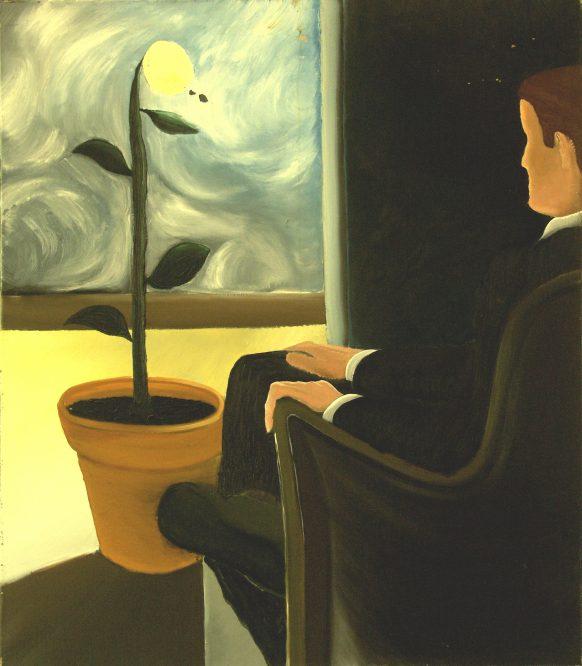 Stille Zondag. 17 januari 1983. Olieverf op doek. 95 x 110 cm.