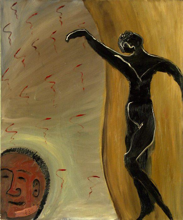 Zeitgeist. 1983. Olieverf op doek. 70 x 85 cm.