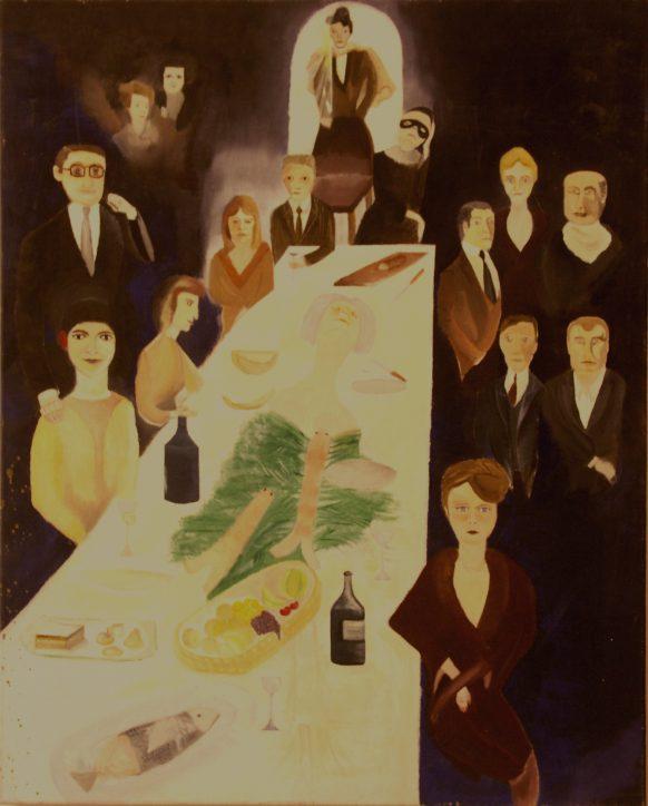 Life's Banquet. Olieverf op doek. 80 x100 cm.