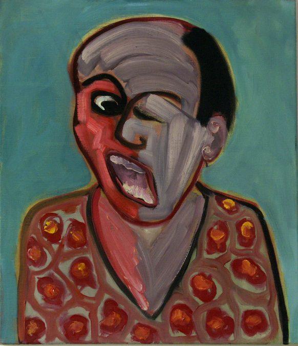 Het Mooie Hemd. 1986. Olieverf op doek. 65 x 75 cm.