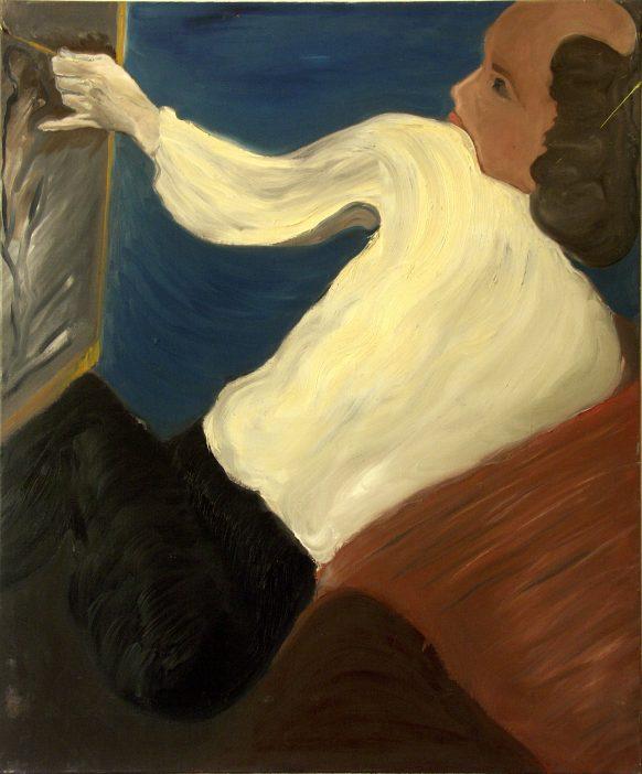 Schilder. 1983. Olieverf op doek. 100 x 120 cm.