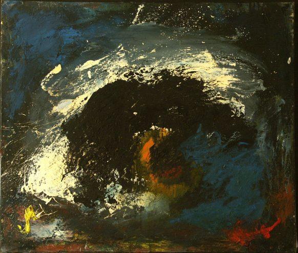 Nu #13 (Beweging serie). 1986. Olieverf op doek. 72 x 82,5 cm.